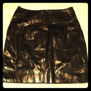 Express Design Studio black leather skirt SZ-6